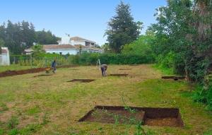 Vista general de la parcela durante la excavación